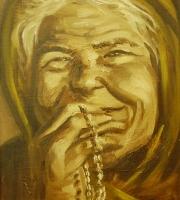 Anziana che prega