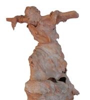 Gesù e la sua croce (terra cotta)